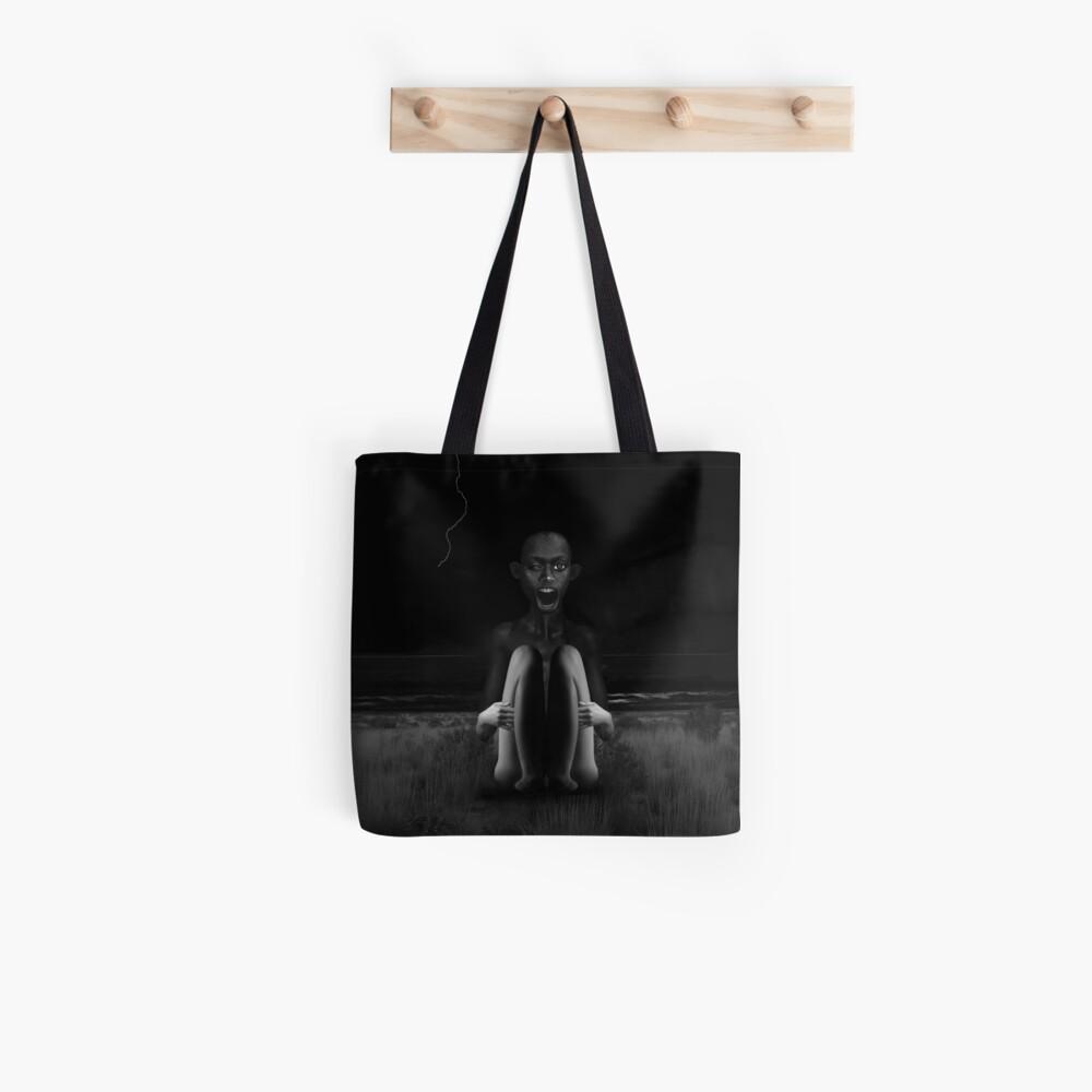Deep Dark - collage art, metamorphosis, black and white Tote Bag