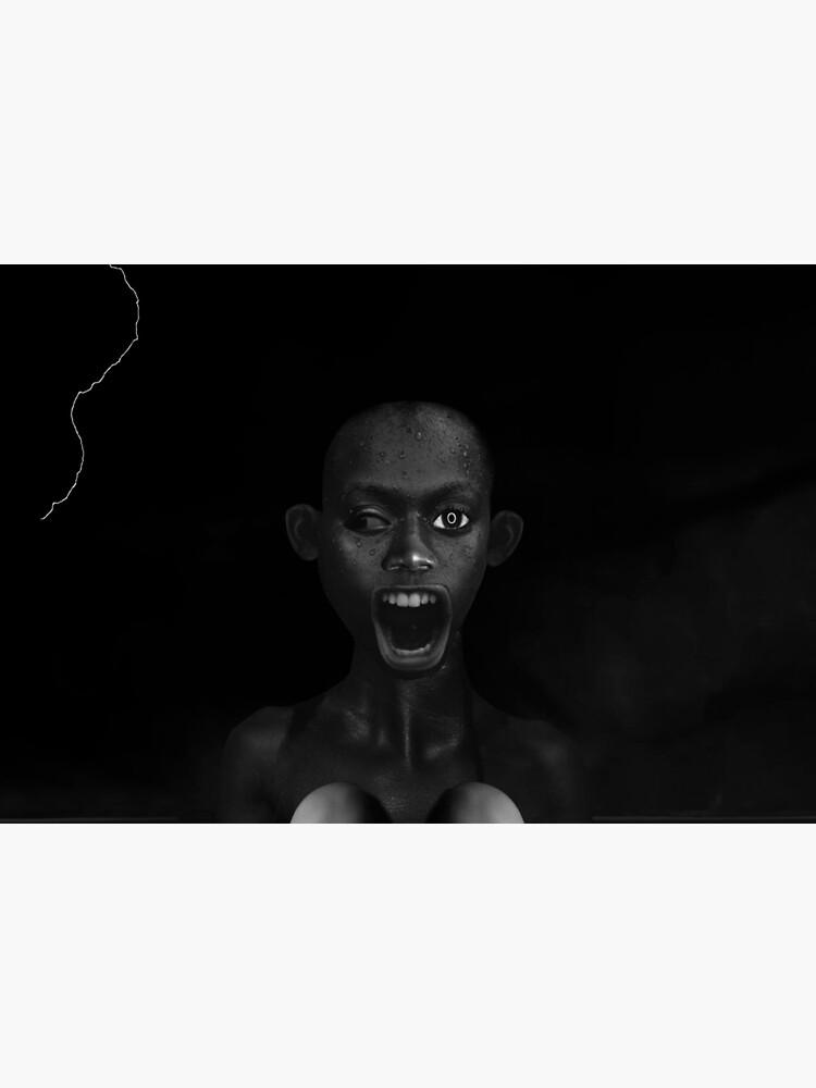 Deep Dark - collage art, metamorphosis, black and white by ilariaantolini