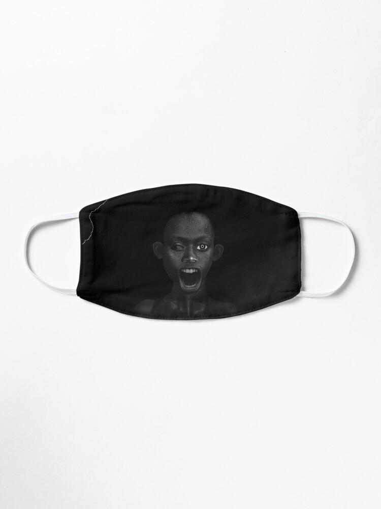 Alternate view of Deep Dark - collage art, metamorphosis, black and white Mask