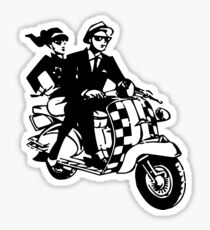 Ska Couple on Scooter Sticker