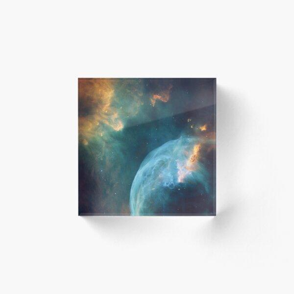 Galaxy Nebula Acrylic Block