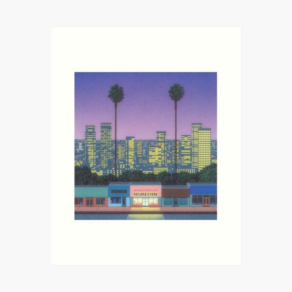 Hiroshi Nagai, record store Art Print