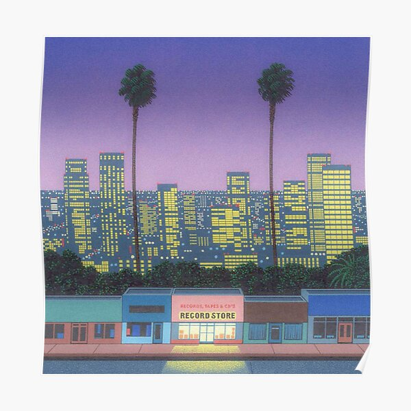 Hiroshi Nagai, record store Poster