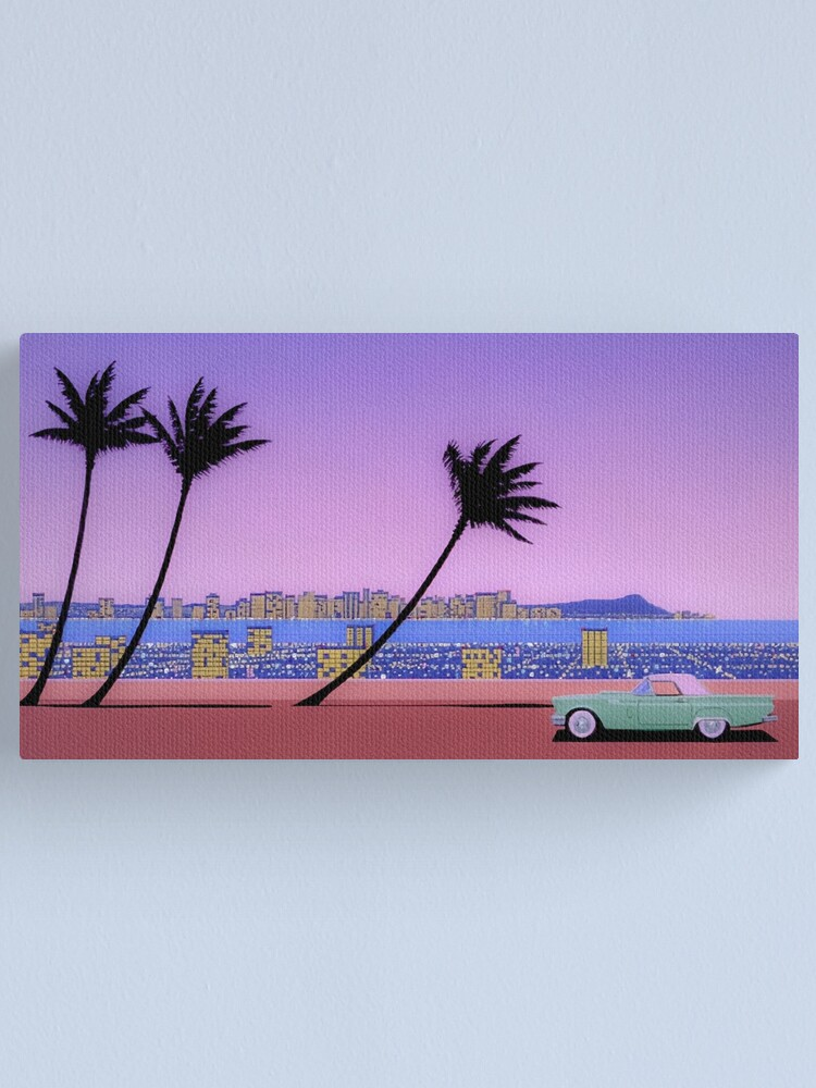 Alternate view of Hiroshi Nagai, palm trees Canvas Print