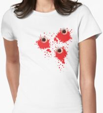 Bullet holes Women's Fitted T-Shirt