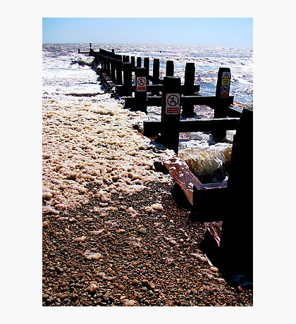 A Secret In The Groyne! Photographic Print