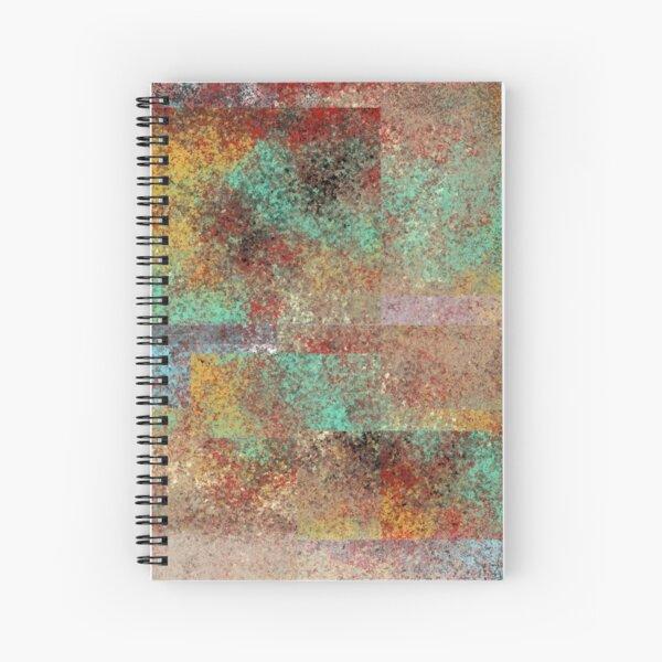 712 - Abstract Digital Painting Wall Art Original Geometric Painting Spiral Notebook