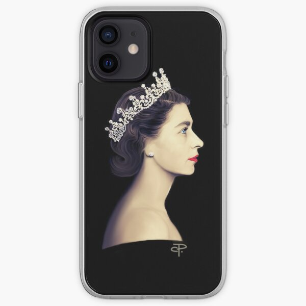 QUEEN ELIZABETH II - THE YOUNG QUEEN IN PROFILE iPhone Soft Case