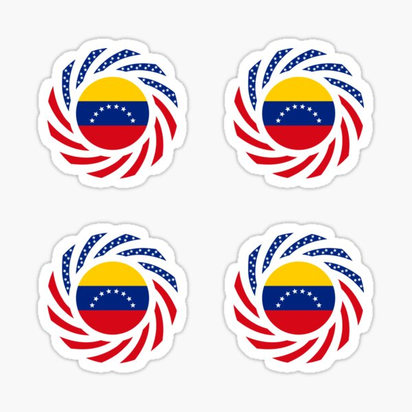 Venezuelan American Multinational Patriot Flag Series Sticker