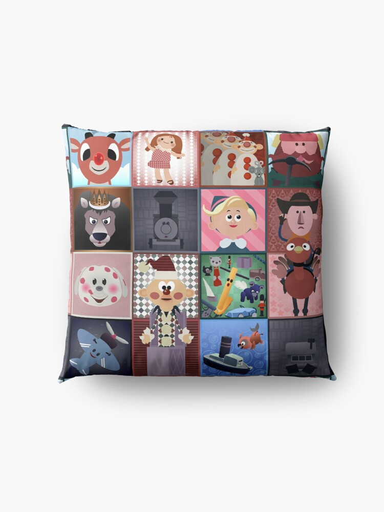Alternate view of Misfit Squares Floor Pillow