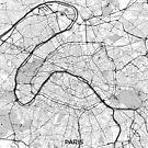 Paris Karte Grau von HubertRoguski