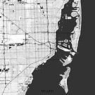 Miami Karte Grau von HubertRoguski