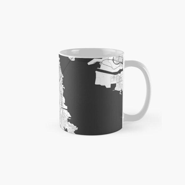 San Francisco Map Gray Classic Mug