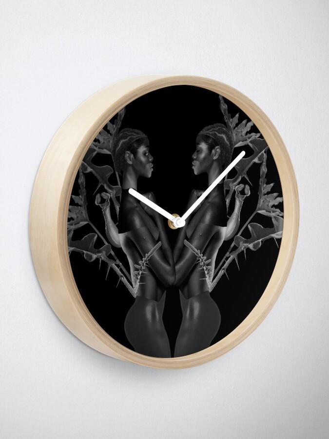 Alternate view of Rebirth of Self - butterfly, nature, metamorphosis Clock