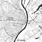 St. Louis Karte grau von HubertRoguski