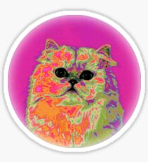 Psychedelic Cat II Sticker