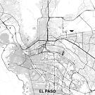 El Paso Karte Grau von HubertRoguski