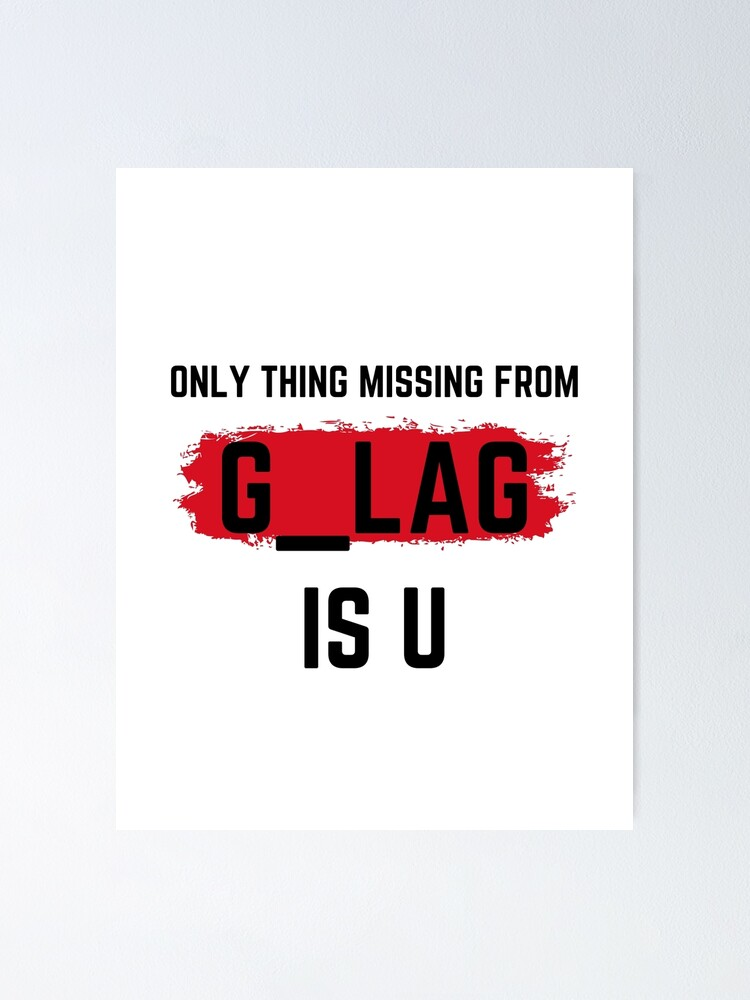 Missing From Gulag Warzone Call Of Duty Funny Gaming Meme Design Poster By Huseyn1 Redbubble