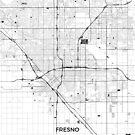 Fresno Karte Grau von HubertRoguski