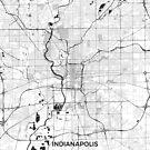 Indianapolis Karte grau von HubertRoguski
