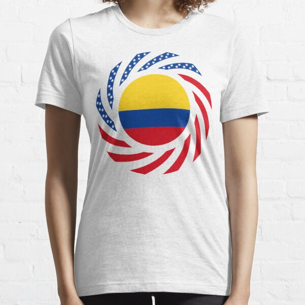Colombian American Multinational Patriot Flag Series Essential T-Shirt