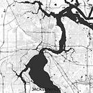 Jacksonville Karte Grau von HubertRoguski