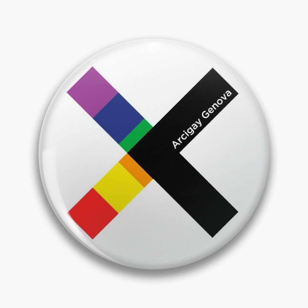 Arcigay Genova Logo Pin