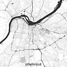 Louisville Karte Grau von HubertRoguski