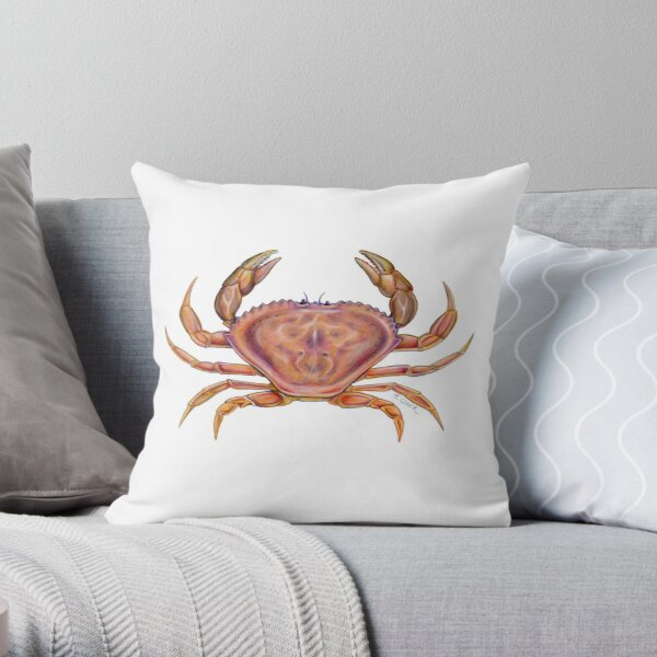 Dungeness Crab (Metacarcinus magister) Throw Pillow