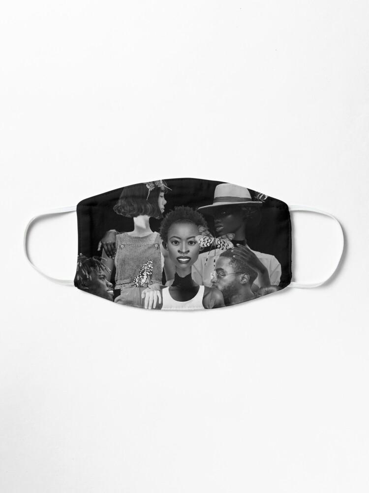 Alternate view of Fly of Freedom - metamorphosis, butterflies, collage art Mask