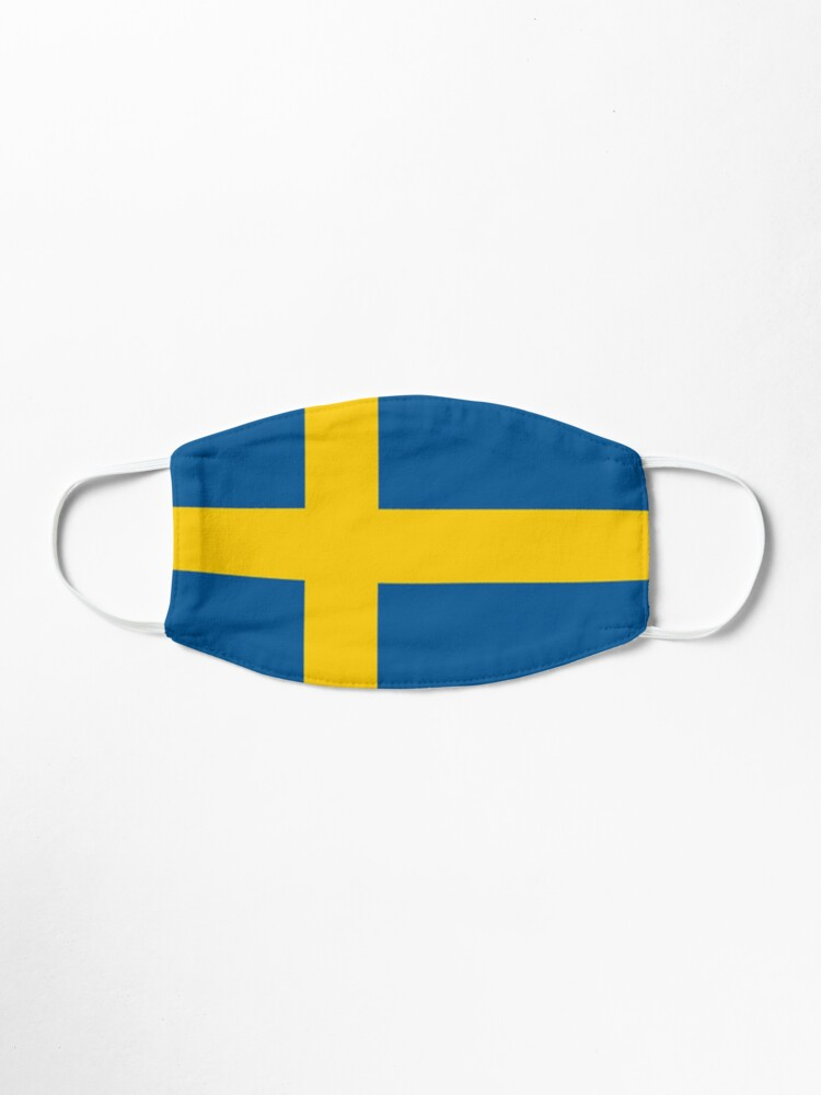 Alternate view of Sweden Flag  Mask