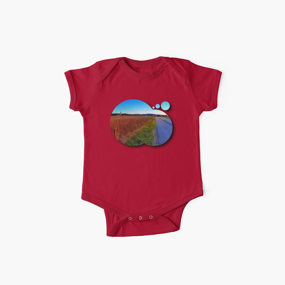 Poppy field road Baby One-Pieces