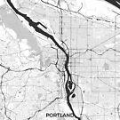 Portland-Karte grau von HubertRoguski