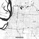 Memphis Karte grau von HubertRoguski