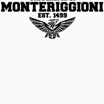 Universita di Monteriggioni (Black) by coates888