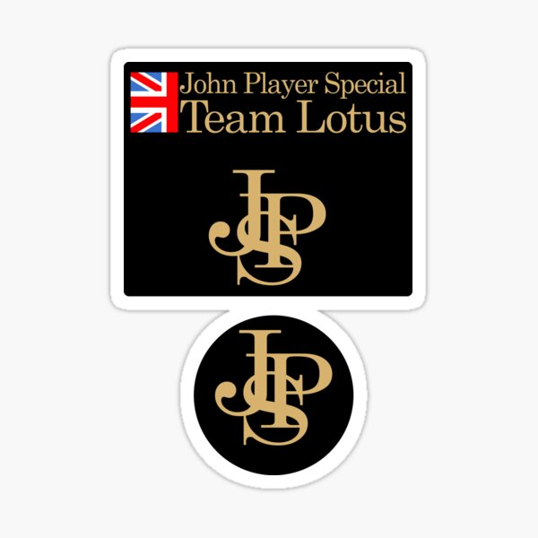 JPS John Player Special Team Lotus Shirt, Sticker, Hoodie Sticker