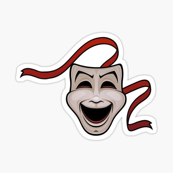 Theatre Face  Sticker