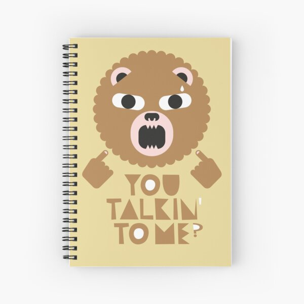 Angry Bear Spiral Notebook