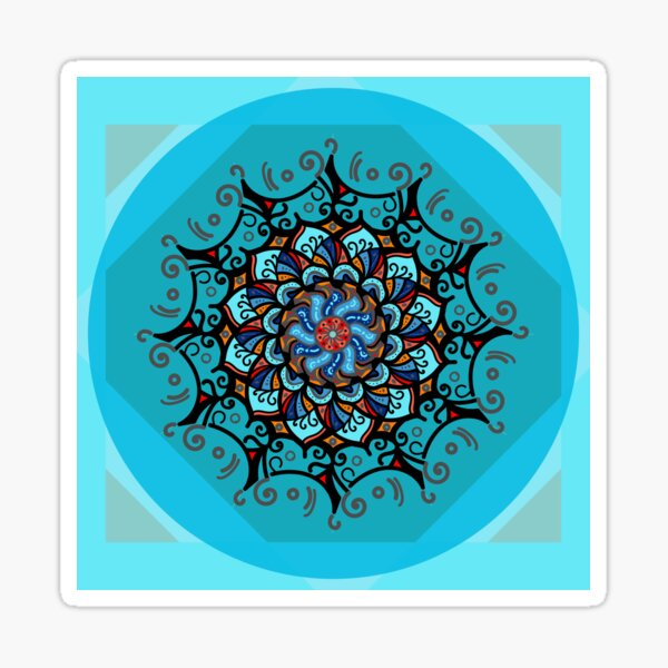 Mandala spring blue Sticker