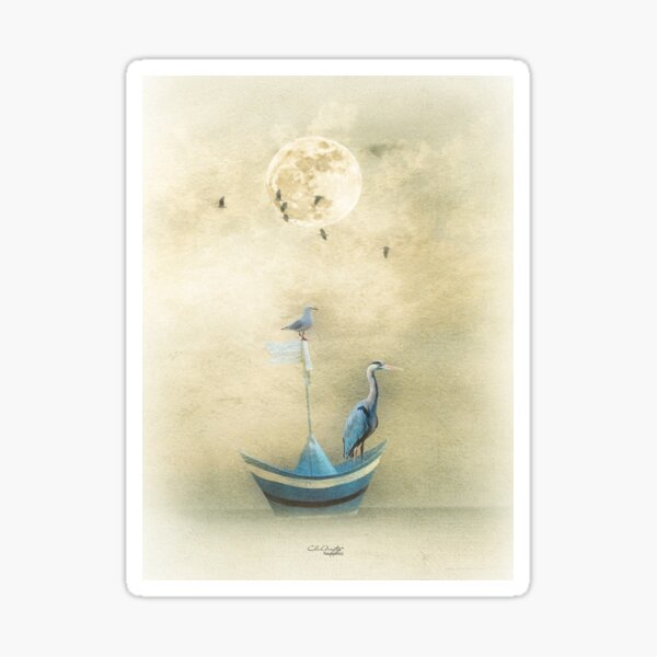 Sailing by the Moon Sticker