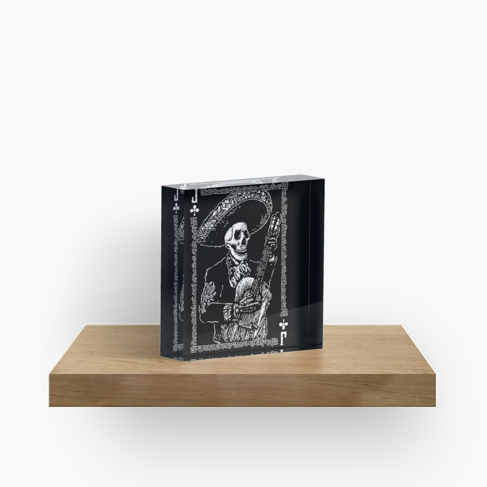 Day of the Dead Jack of Clubs  Acrylic Block