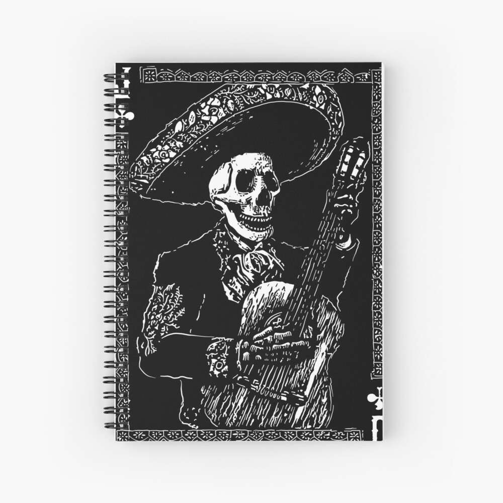 Day of the Dead Jack of Clubs  Spiral Notebook