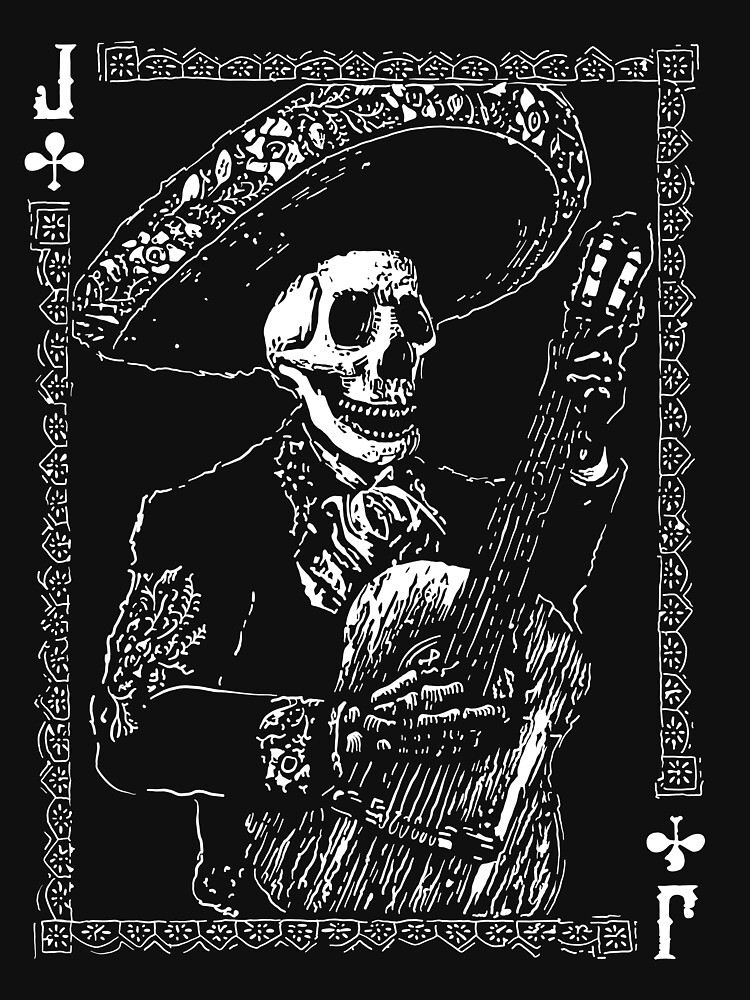 Day of the Dead Jack of Clubs  by fullrangepoker