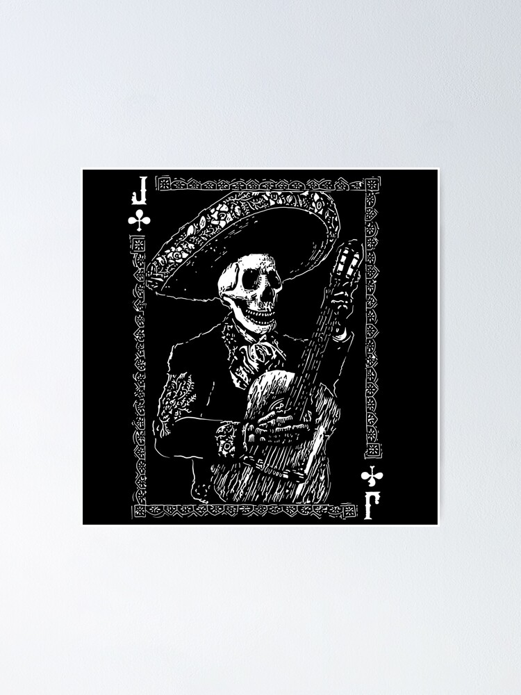Alternate view of Day of the Dead Jack of Clubs  Poster