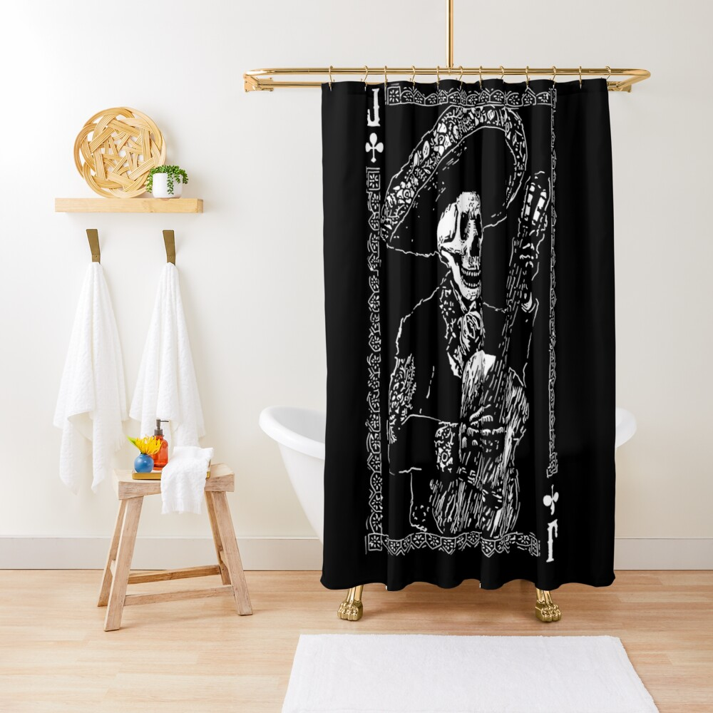 Day of the Dead Jack of Clubs  Shower Curtain