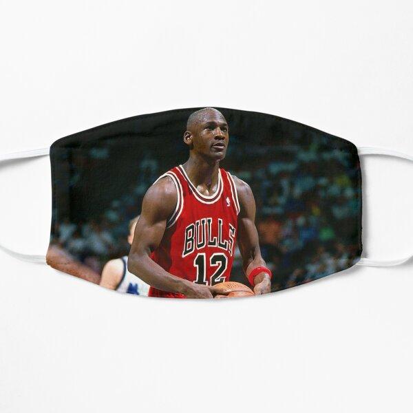 Michael Jordan preparándose para disparar Mascarilla plana