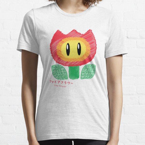fire flower -scribble- Essential T-Shirt