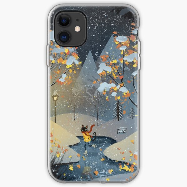Ice Skating Cat iPhone Soft Case