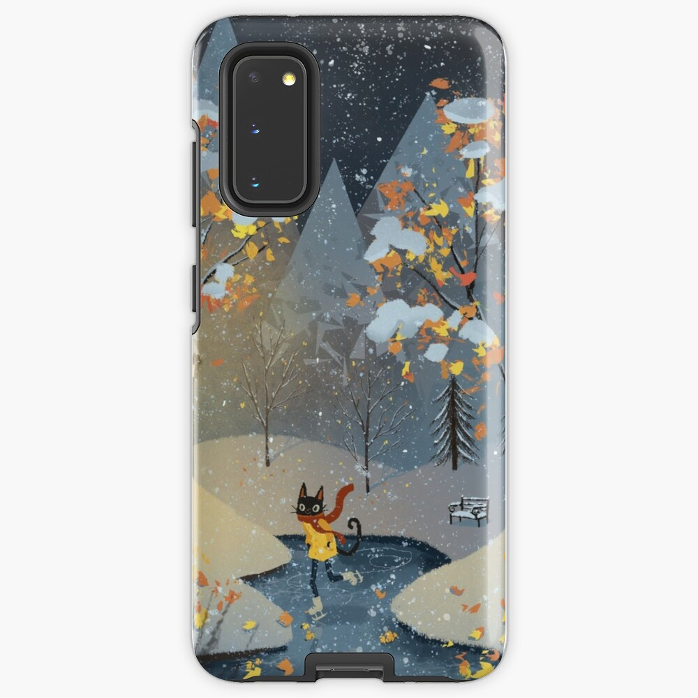 Ice Skating Cat Case & Skin for Samsung Galaxy