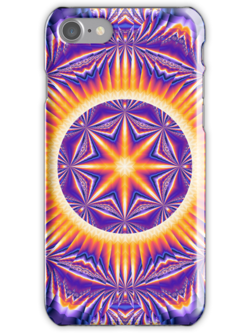 Psychedelic Kaleidoscope 3 Mandala abstract by Leah McNeir